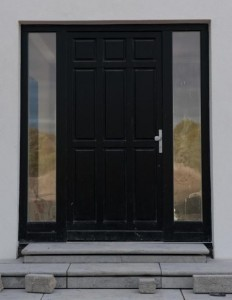 Euro78 timber entrance door RAL9005