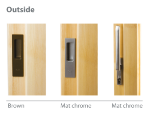 Lift and slide terrace door handles_outside