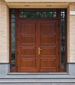Timber Entrance doors with top and side lites