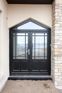 Timber entrance door with triangular top lite, Dungarvan Ireland