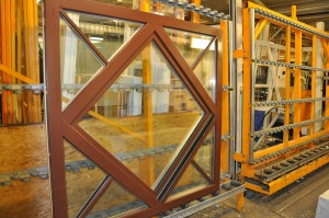 Timber window assembly line