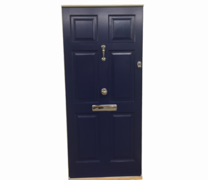 Traditional-Cadsement-timber-Entrance-doors-with-Knocker,-knob-and-letter-box